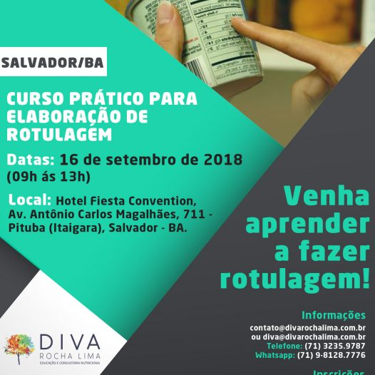 Salvador: Curso Prático para Elaboração de Rotulagem (4h)