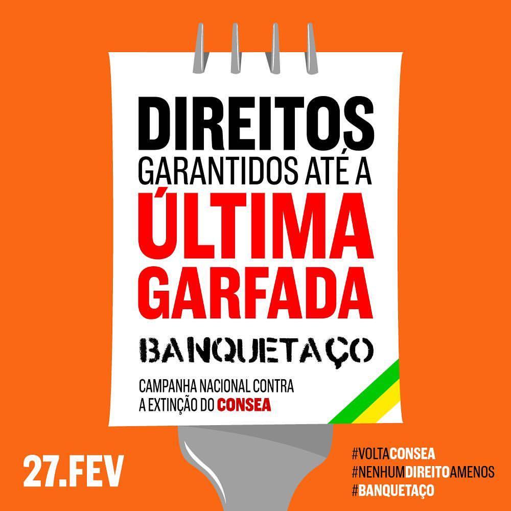 Carnaval na Barra vai ter 'Banquetaço' contra a extinção do Consea