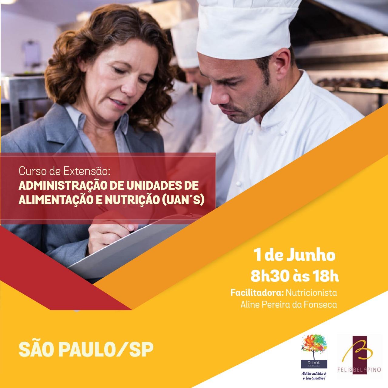 """São Paulo recebe curso """"Administração de UANs"""" no dia 1º de junho"""