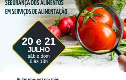 Especialização em Segurança dos Alimentos em Serviços de Alimentação chega a São Paulo