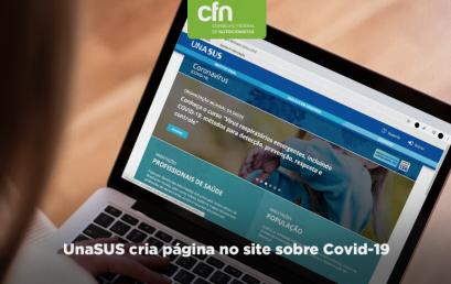 UnaSUS cria página no site sobre Covid-19