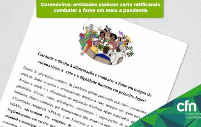 Coronavírus: entidades se unem na luta contra a fome em meio a pandemia
