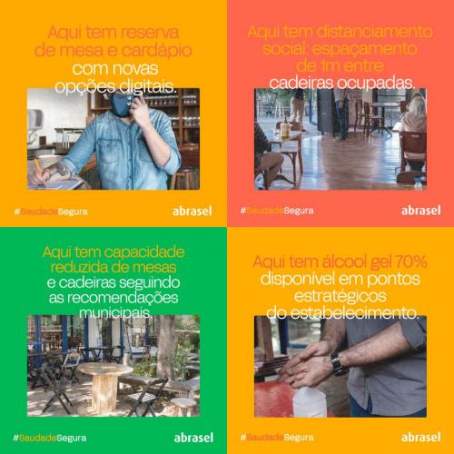 Abrasel lança campanha #SaudadeSegura em todo o país